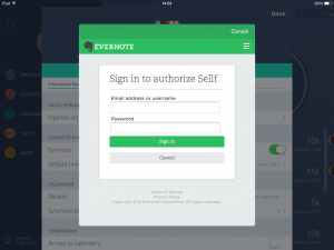 Authorize Sellf on Evernote