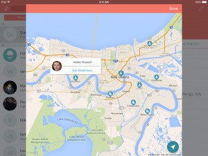 Sellf for iPad - Contacts map