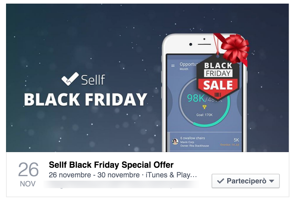 Sellf Black Friday Facebook Event