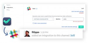 Slack message: Sellf integration added to this channel