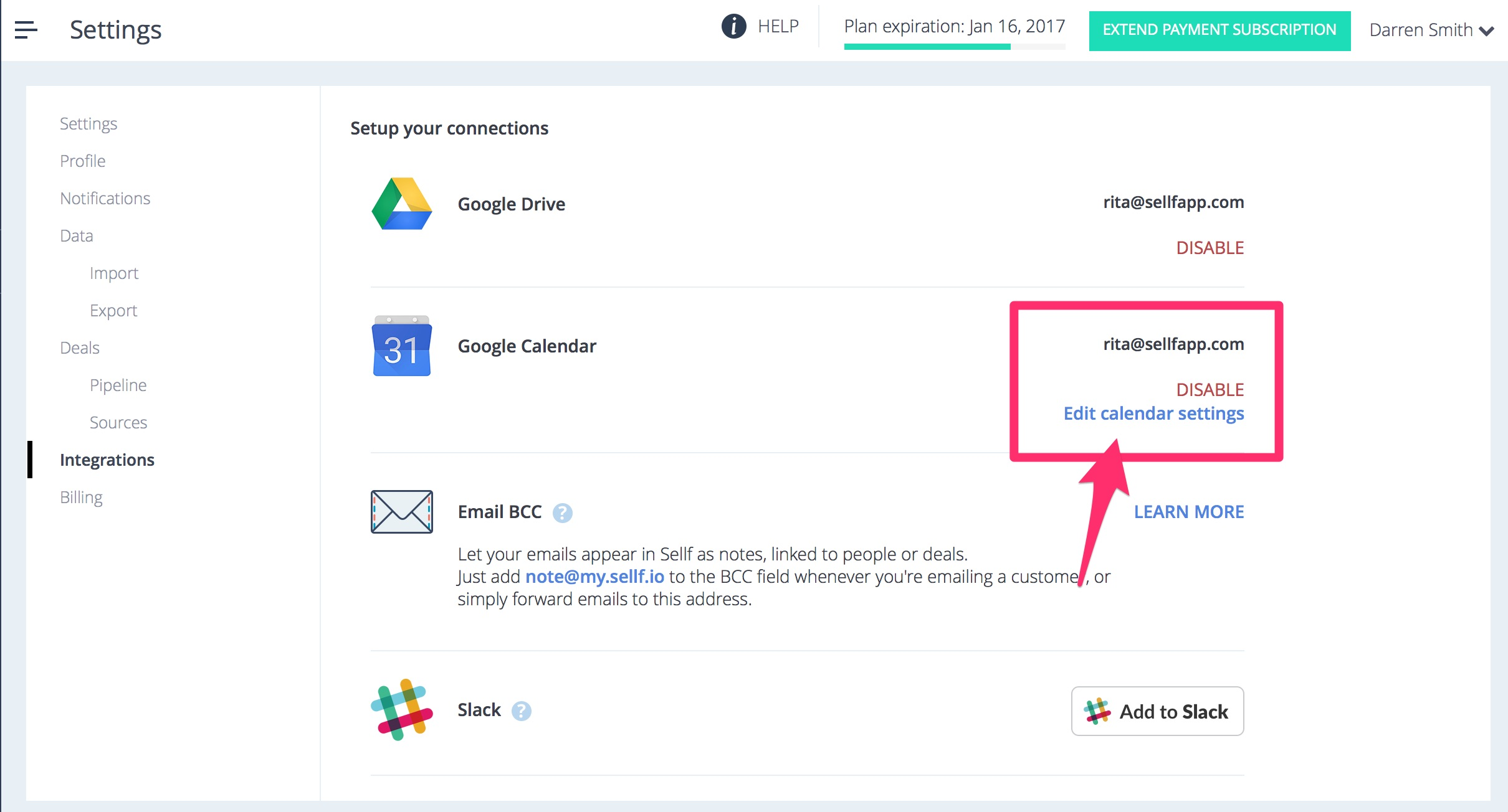 Sincronizzare Calendario.Sincronizza Sellf Web Con Il Tuo Calendario Google Sellf Crm