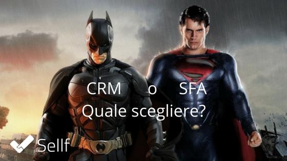 Scegliere CRM o SFA