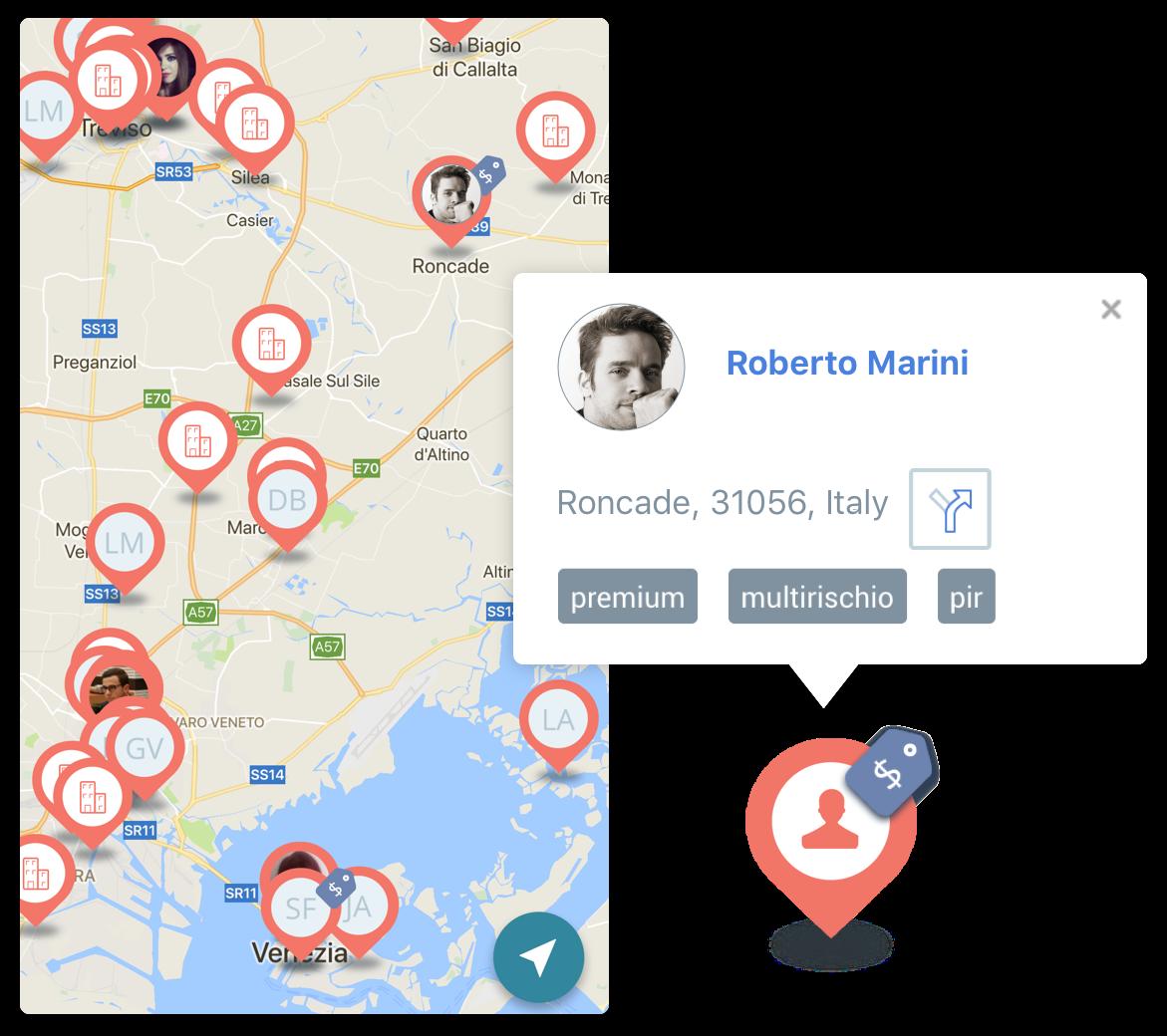 Mappa dei tuoi clienti