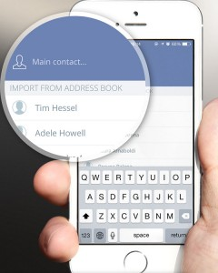 Import contact from address book