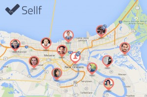 Contacts on Map