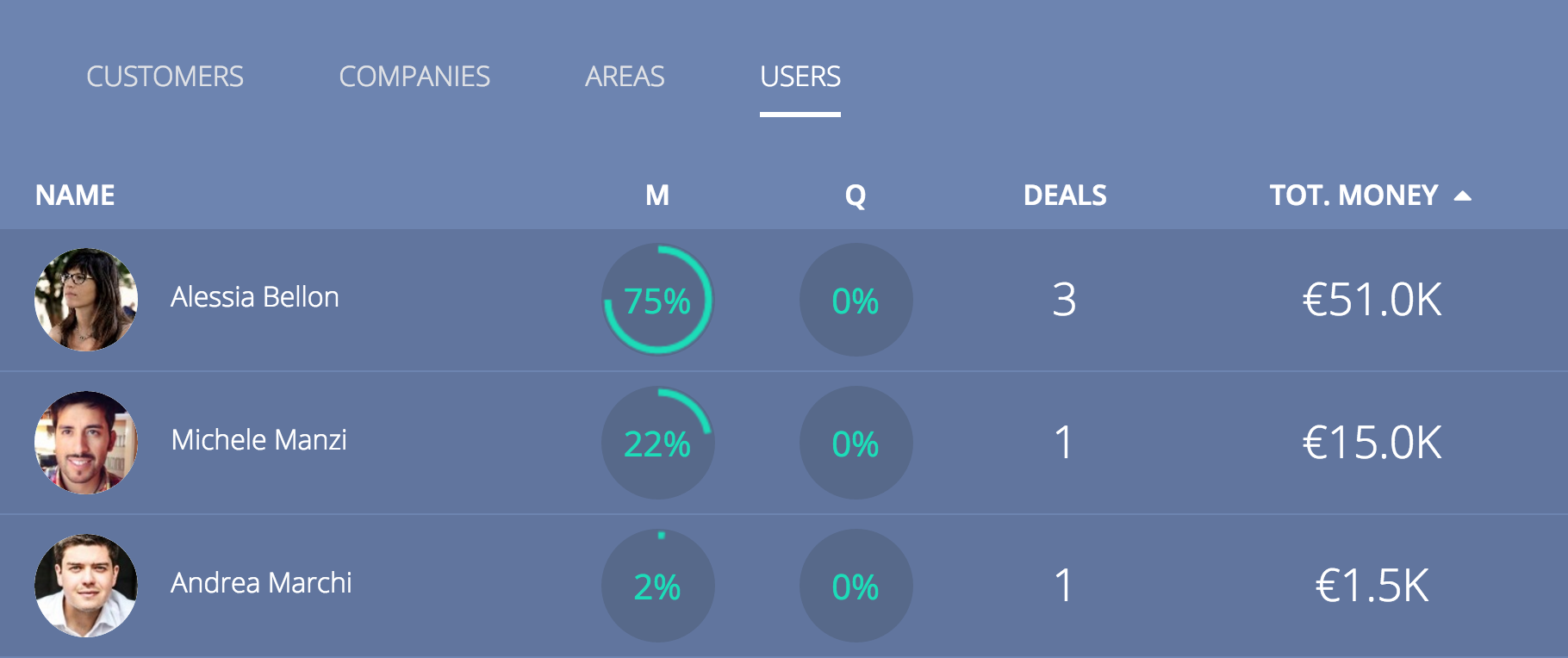 Sales by users Report