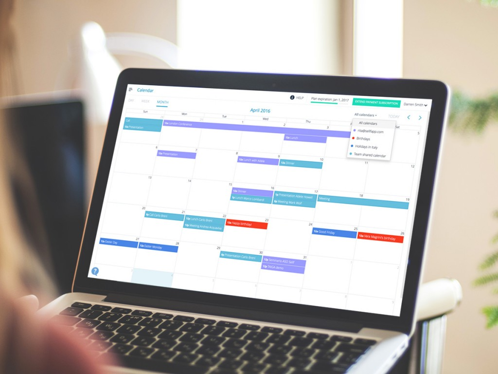Sincronizzazione con Calendari
