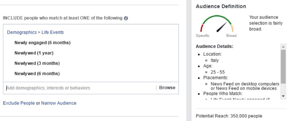 targeting facebook insurance