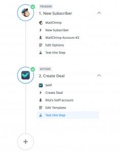 Integration Zapier Mailchimp