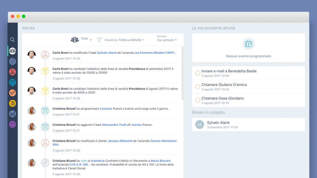 Applicativo gestione rete agenti: aggiornamenti in tempo reale