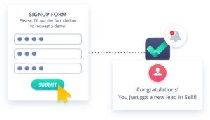 Lead capture web form